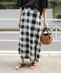 SLOBE IENA/リネン混ロング巻き風スカート◆/501796303