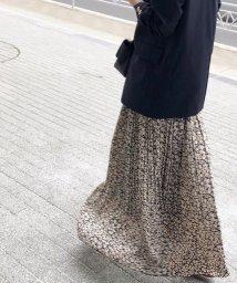 NOBLE/《予約》ニュアンスプリーツマキシスカート◆/501817171