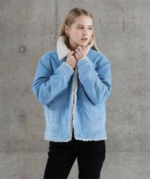 LEVI'S LADY/PEAKY SHERPA COR TRUCKER BABY BLUE CORD/501622923
