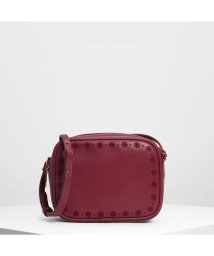 CHARLES & KEITH/キッズフローラルエンブロイダリークロスボディバッグ / Kids Floral Embroidery Crossbody Bag (Red)/501679325
