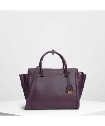CHARLES & KEITH/クラシック ストラクチャーシティバッグ / Classic Structured City Bag (Purple)/501679357