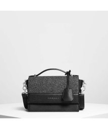 CHARLES & KEITH/ストラクチャー トップハンドルバッグ / Structured Top Handle Bag (Black)/501679423