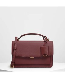 CHARLES & KEITH/スリングフラップ クロスボディ / Single Flap Crossbody Bag (Prune)/501679491