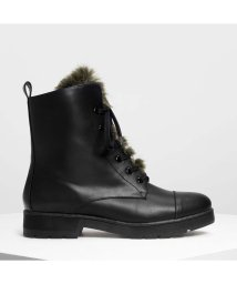 CHARLES & KEITH/ファーディテール コンバットブーツ / Furry Detail Combat Boots (Multi)/501682816