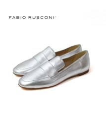 FABIO RUSCONI/ファビオルスコーニ Fabio Rusconi ポインテッドトゥエナメルサケットローファー (シルバー)/501716579