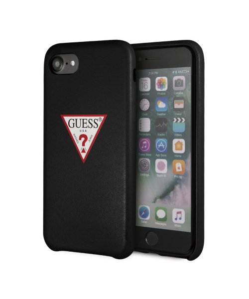 GUESS(ゲス)/ゲス GUESS PU LEATHER CASE TRIANGLE LOGO for iPhone8 (BLACK)【JAPAN EXCLUSIVE ITEM】/GU1432DM12718