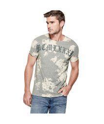 GUESS/ゲス GUESS GOTHIC MCMLXXXI CREW TEE (LIGHT MELANGE GREY MULTI)/501727729