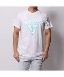 GUESS/ゲス GUESS HOLOGRAM TRIANGLE LOGO TEE (WHITE)/501727764