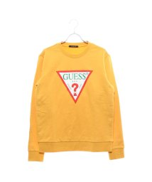 GUESS/ゲス GUESS TRIANGLE LOGO CREW SWEAT (MUSTARD)/501728092