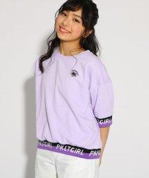 PINK-latte/袖裾ロゴ5分袖プルオーバー/501858788