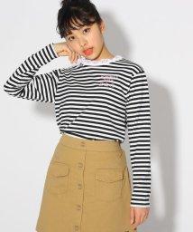 PINK-latte/レースネックTシャツ/501858811