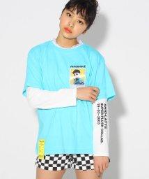 PINK-latte/★ニコラ掲載★シオリコラボ 転写プリント×レース TシャツSET/501858817