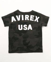 AVIREX/キッズ/ビッグ ロゴ ルーズフィットTシャツ/KIDS/BIG LOGO LOOSE FIT T-SHIRT II/501877407