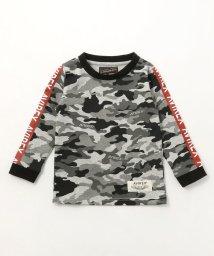 AVIREX/キッズ/カモフラ袖ラインTシャツ/KIDS/CAMO LINED T-SHIRT/AVI002/501877409