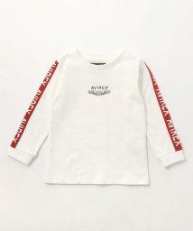 AVIREX/キッズ/裏毛 袖ラインTシャツ/KIDS LINED T-SHIRT/AVI005/501877410