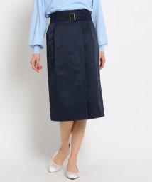 AG by aquagirl/【Lサイズあり】ベルテッドラップ風スカート/501877891