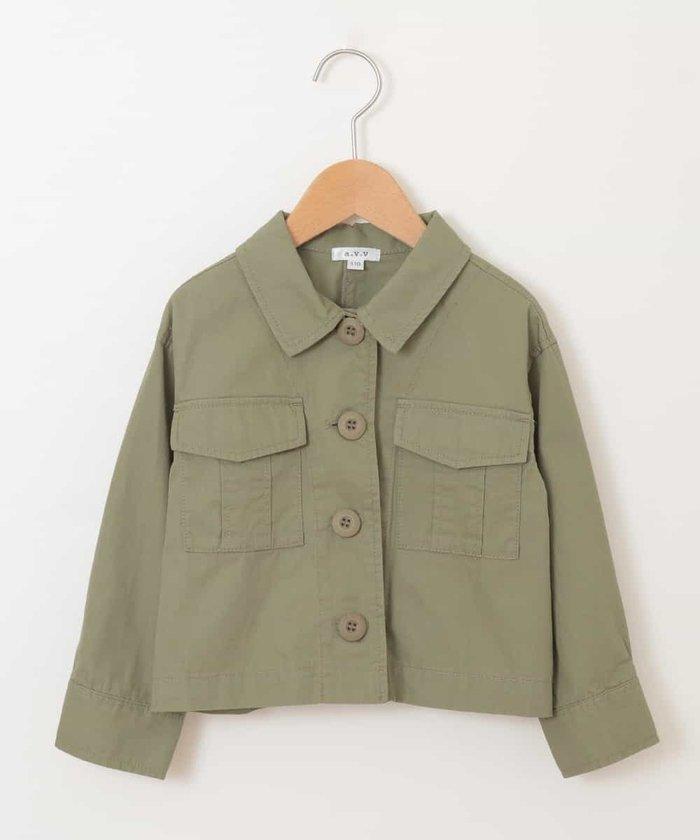 [100−130]ミリタリーシャツジャケット[WEB限定サイズ]