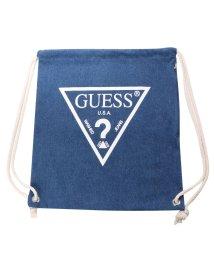 GUESS/ゲス GUESS Originals WHITE TRIANGLE LOGO DENIM KNAPSACK (MEDIUM BLUE)【JAPAN EXCLUS/501725868