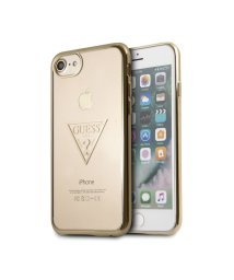 GUESS/ゲス GUESS TRIANGLE LOGO TRANSPARENT TPU CASE for iPhone 8 (GOLD)【JAPAN EXCLUSIVE /501726552