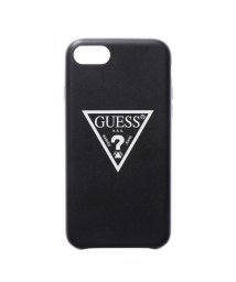 GUESS/ゲス GUESS PU LEATHER LARGE TRIANGLE LOGO CASE for iPhone 8 (BLACK)/501726567