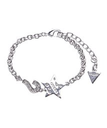 GUESS/ゲス GUESS B-LIPS STAR AND ? CHARMS BRACELET (SILVER)/501726932