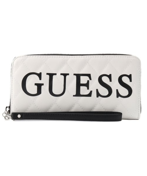 GUESS(ゲス)/ゲス GUESS SWEET CANDY LARGE ZIP AROUND WALLET (WHITE MULTI)/GU1432DW13622