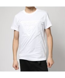 GUESS/ゲス GUESS EMBOSS TRIANGLE LOGO TEE (WHITE)/501727639