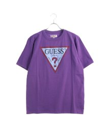 GUESS/ゲス GUESS Originals S/S CLASSIC TRIANGLE LOGO TEE (PURPLE)【JAPAN EXCLUSIVE ITEM】/501727674
