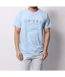GUESS/ゲス GUESS FLOWER PRINT LOGO TEE (LIGHT BLUE)/501727768