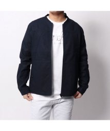 GUESS/ゲス GUESS LINEN BOMBER JACKET (DARK NAVY)/501727782