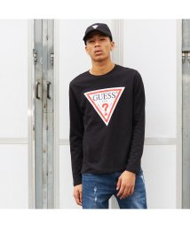 GUESS/ゲス GUESS TRIANGLE LOGO L/S TEE (BLACK)/501727931