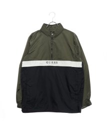 GUESS/ゲス GUESS LOGO ANORAK PULLOVER JACKET (KHAKI)/501728084