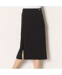 GUESS/ゲス GUESS STRETCH CALF-LENGTH SKIRT (JET BLACK W/ FROST GREY)/501728226
