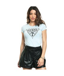 GUESS/ゲス GUESS WESTERN TRIANGLE LOGO R3 TEE (OMPHALODES)/501728926