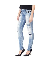 GUESS/ゲス GUESS STARLET DESTROY LOW-RISE SLIM DENIM PANT (NIGHT RIDERS)/501728981