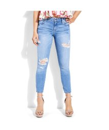 GUESS/ゲス GUESS SEXY CURVE CROPPED SKINNY DENIM PANT (BLUE MIST WASH)/501729059