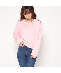 GUESS/ゲス GUESS SHORT EMBOSSED QUATTRO G LOGO SWEAT (BELOVED PINK)/501729093