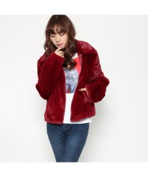 GUESS/ゲス GUESS TANYA JACKET (BLUEBERRY RED)/501729181