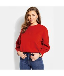 GUESS/ゲス GUESS AUDREY POUF SLEEVE LOGO SWEATER (TOMATO JUICE)/501729202