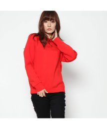 GUESS/ゲス GUESS CHARLOTTE TRIANGLE LOGO FLEECE SWEAT (TOMATO JUICE)/501729228