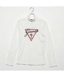 GUESS/ゲス GUESS TRIANGLE LOGO TURTLE-NECK L/S TEE (WHITE)/501729280