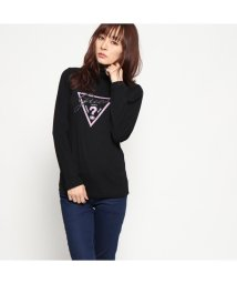 GUESS/ゲス GUESS TRIANGLE LOGO TURTLE-NECK L/S TEE (BLACK)/501729281