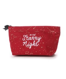 HITCH HIKE MARKET/ヒッチハイクマーケット HITCH HIKE MARKET STARRY NIGHT コットンポーチ (レッド)/501732275