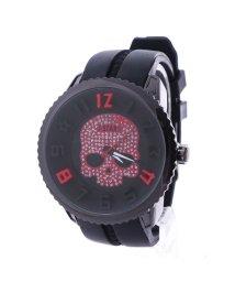 ITALICO/イタリコ ITALICO 【専用ケース付き】3D スカル ドクロデザイン ビッグフェイス腕時計 50mm (A(ブラック/レッド))/501740238