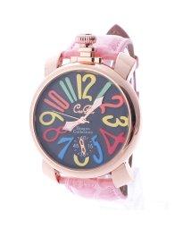ITALICO/イタリコ ITALICO 【専用ケース付き】トップリューズ式ビッグフェイス腕時計 マルチカラー47mm (D(ピンク/ブラック))/501740246