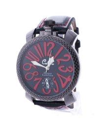 ITALICO/イタリコ ITALICO 【専用ケース付き】トップリューズ式ビッグフェイス腕時計 フレームチェック47mm (A(レッド/ブラック))/501740254