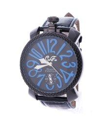 ITALICO/イタリコ ITALICO 【専用ケース付き】トップリューズ式ビッグフェイス腕時計 フレームチェック47mm (B(ブルー/ブラック))/501740255