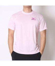 MIZUNO/ミズノ MIZUNO テニスTシャツ バックロゴTシャツ 62JA6Z0160 ピンク  (ライトピンク×Fピンク)/501774364