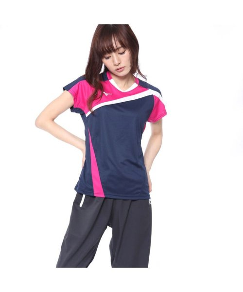 MIZUNO(ミズノ)/ミズノ MIZUNO レディース バドミントン 半袖 Tシャツ ゲームシャツ72MA820514/MI295EW07290