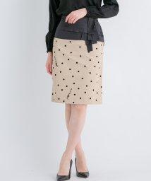 LANVIN en Bleu/【セットアップ対応商品】ドットフロッキータイトスカート/501541937